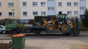 Baumschinentransport