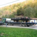 Transport eines Eisenbahnwaggons Bild Nr. 1
